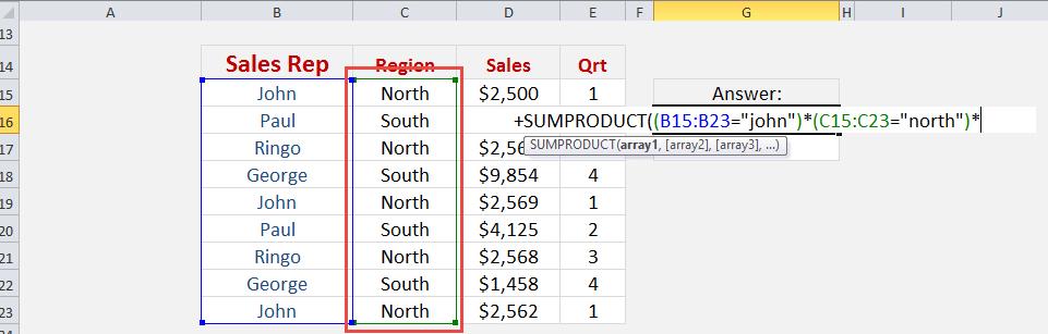 Excel Sumproduct Multiple Criteria Free Microsoft Excel