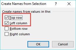 create names dialogue box