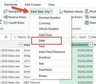data type date