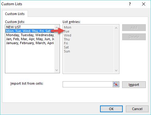 Default Custom List