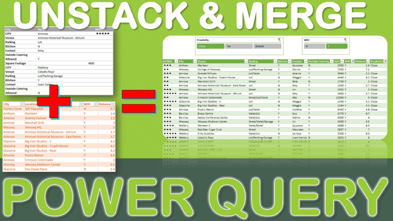 Data Cleansing Training Bonus Video #1: Unstack and Merge Using Power Query | MyExcelOnline