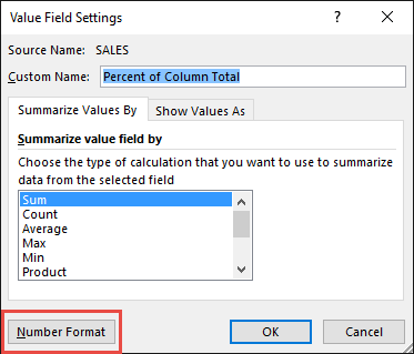 Percent of Column Total 06