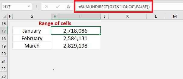 Excel INDIRECT Function Using Sheet References | MyExcelOnline