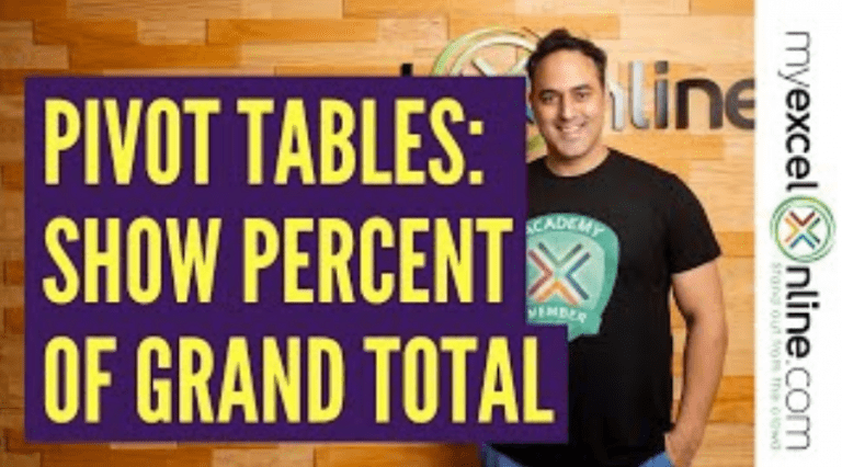 Show The Percent of Grand Total With Excel Pivot Tables