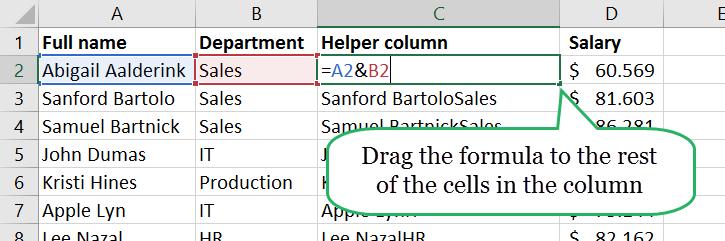 Excel Vlookup multiple criteria