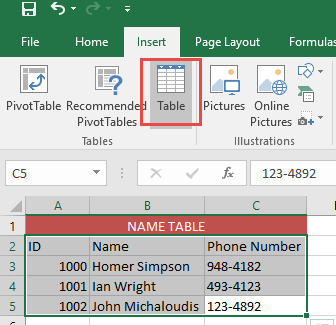 Linking Excel Tables 02