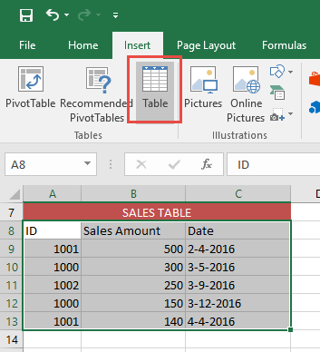 Linking Excel Tables 04