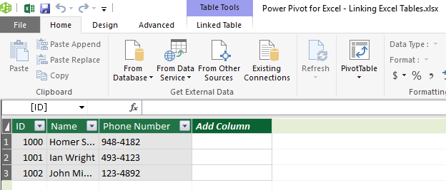 Linking Excel Tables 08