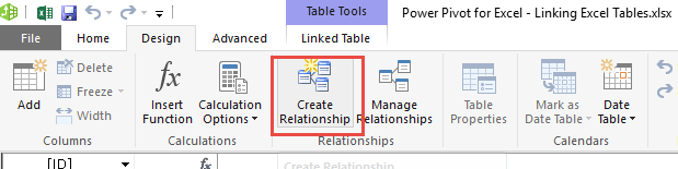 Linking Excel Tables 10