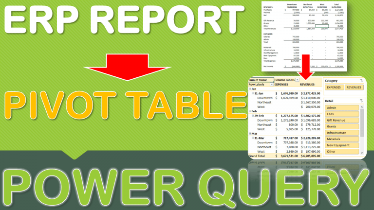Data Cleansing Training Bonus Video #2: Transform an ERP Report to an Excel Pivot Table | MyExcelOnline