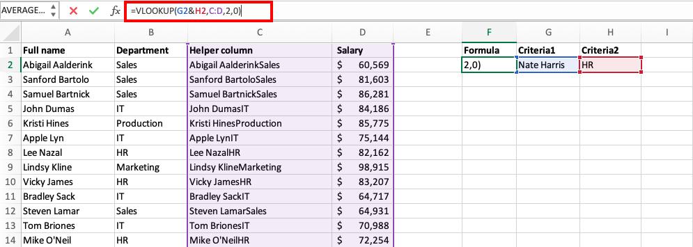 VLOOKUP with Multiple Criteria in Excel | MyExcelOnline