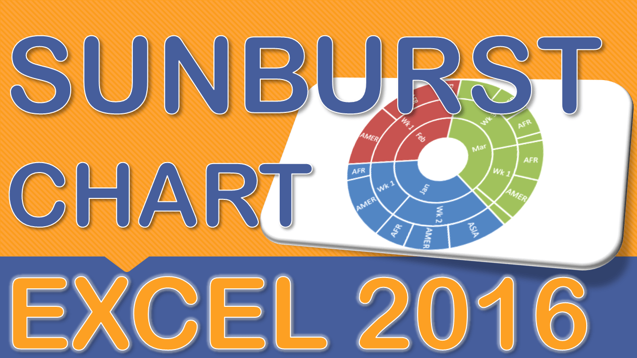 Create a Sunburst Chart With Excel 2016
