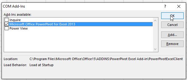 Enabling Power Pivot in Excel 2013 | Free Microsoft Excel