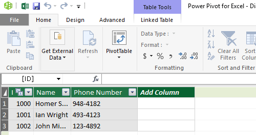power pivot excel 2013