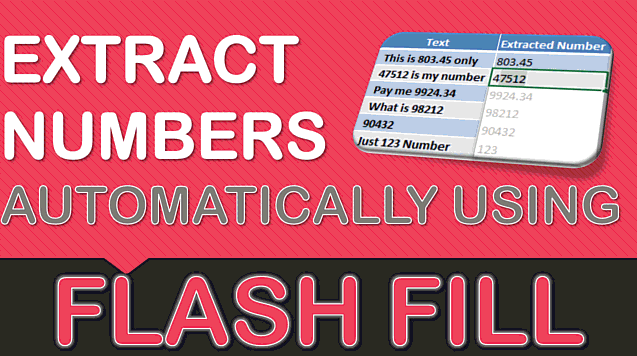 Extract Numbers Using Flash Fill In Excel