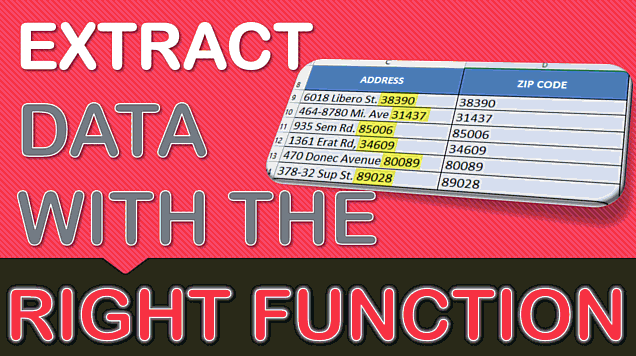 Extracting Data with Excel's RIGHT Formula