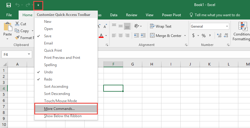 add the calculator to the excel toolbar
