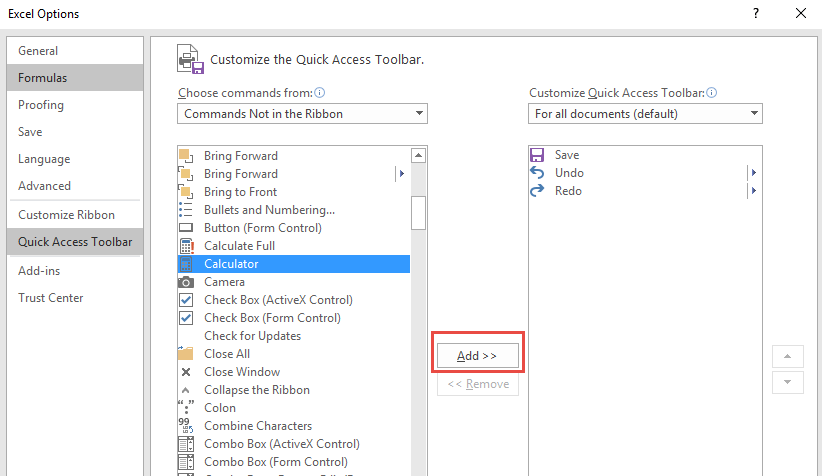 Add the Calculator to the Excel Toolbar | Free Microsoft Excel Tutorials