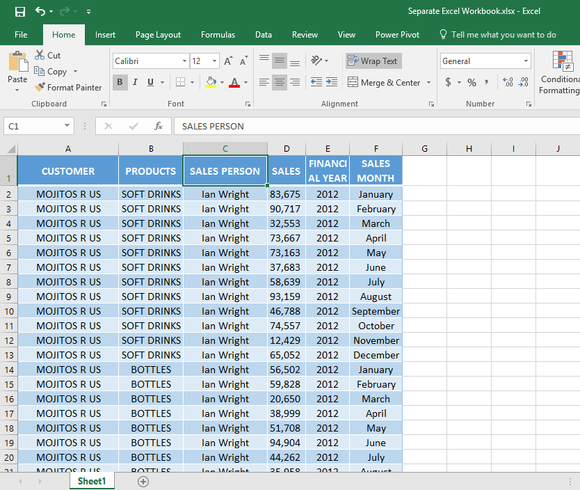 Importing Excel Workbooks 01