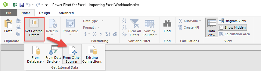 importing excel workbooks in power pivot free microsoft. Black Bedroom Furniture Sets. Home Design Ideas
