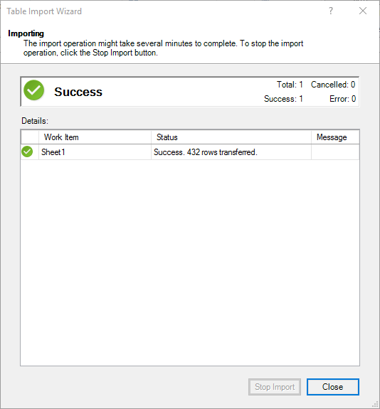 Importing Excel Workbooks 09