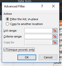 Excel - Advanced Filter