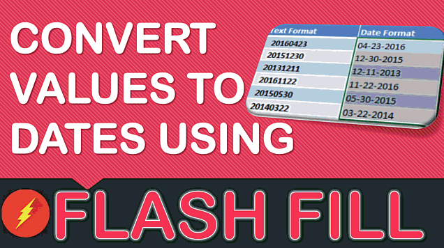 Convert Values to Dates Using Flash Fill In Excel
