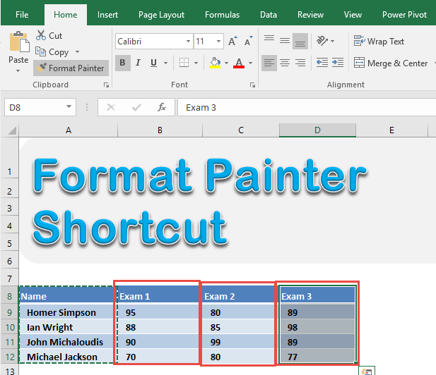 how to use format painter