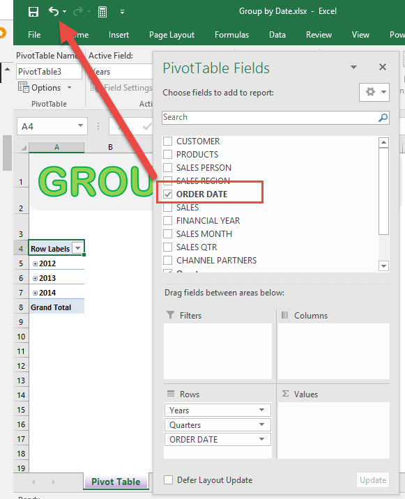 Group Sales by Weeks With Excel Pivot Tables | Free
