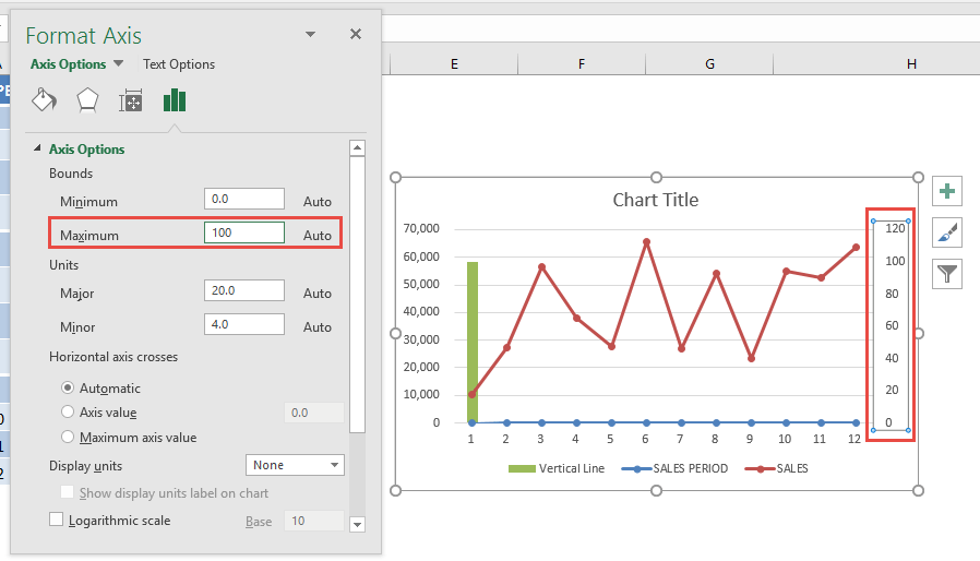 Add An Interactive Vertical Column In Your Excel Line Chart