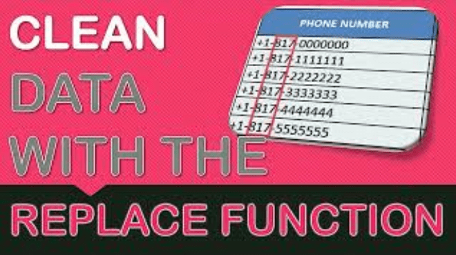 Cleaning Data with Excel's REPLACE Formula