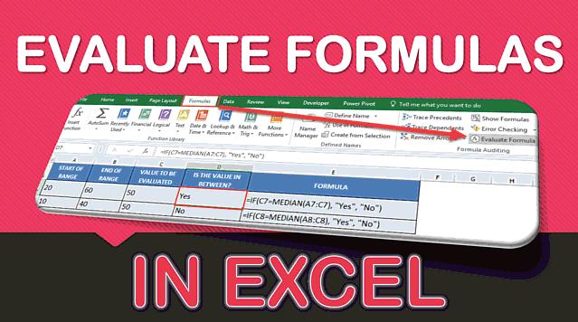Evaluate Formulas Step By Step in Excel