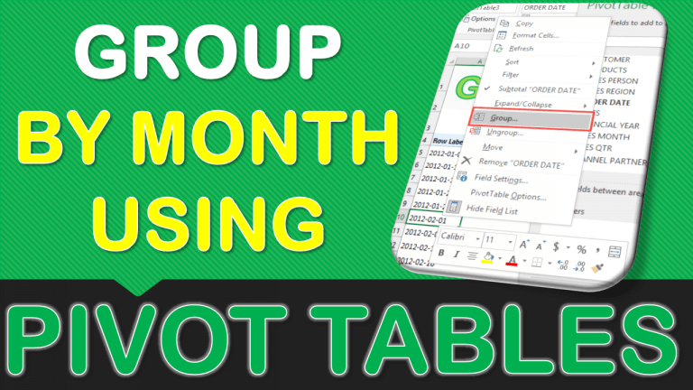 Group By Month With Excel Pivot Tables