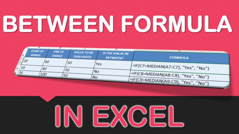 BETWEEN Formula in Excel