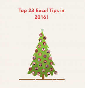 (Christmas Special) 013: The Best Excel Tips of 2016 from 23 Excel Experts | MyExcelOnline