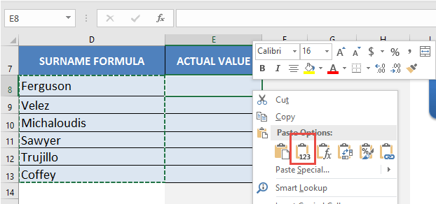 How to Convert Formulas to Values | MyExcelOnline