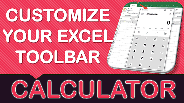Add Calculator in Excel to the Toolbar