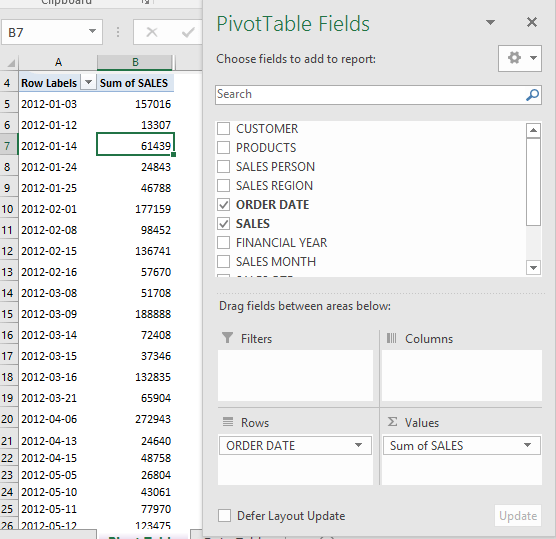 errors when grouping by dates with excel pivot tables free