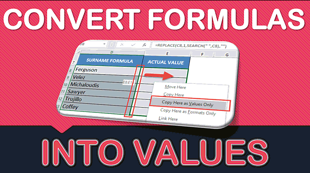 How to Convert Formulas to Values