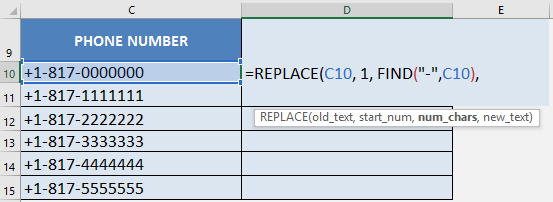 Clear Everything Before the Hyphen with Excel's REPLACE Formula | MyExcelOnline
