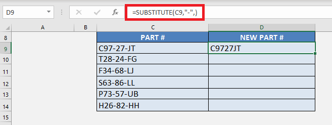 Remove Second Hyphen with Excel's SUBSTITUTE Formula | MyExcelOnline