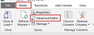 Advanced Editor In Power Query | MyExcelOnline