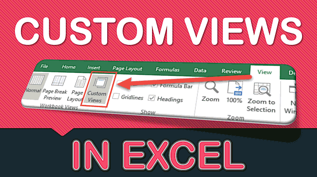 Quick Reports Using Excel Custom Views