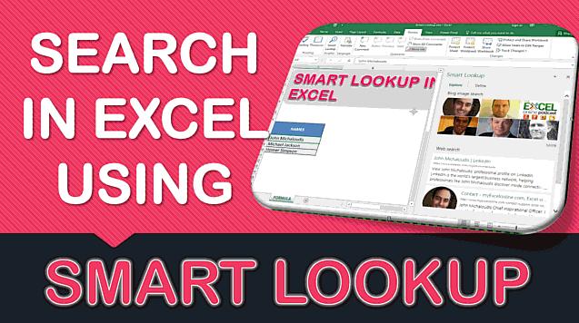 Smart Lookup in Excel 2016