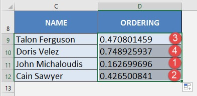 Create a Random List with Excel's RAND Formula | MyExcelOnline