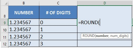 Round Off Numbers with Excel's ROUND Formula | Free