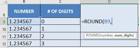 Round Off Numbers with Excel's ROUND Formula | MyExcelOnline