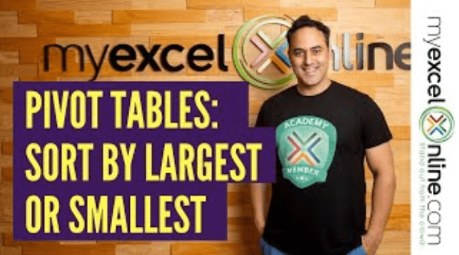 Sort by Largest or Smallest With Excel Pivot Tables