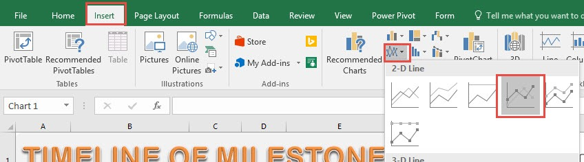 project milestone chart using excel free microsoft excel tutorials