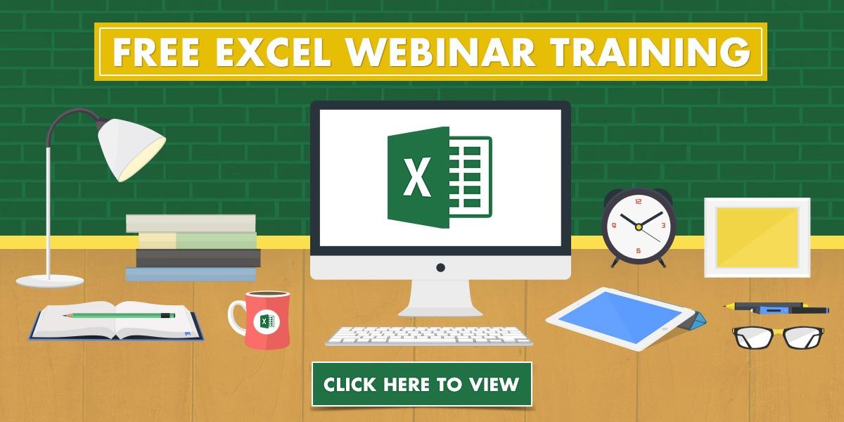 free excel webinar courses